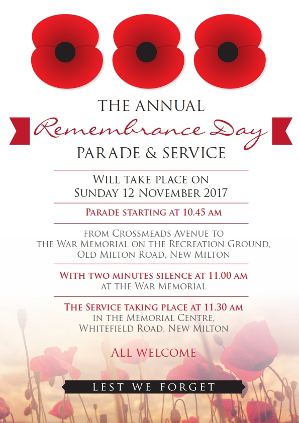Annual Remembrance Sunday Parade & Service