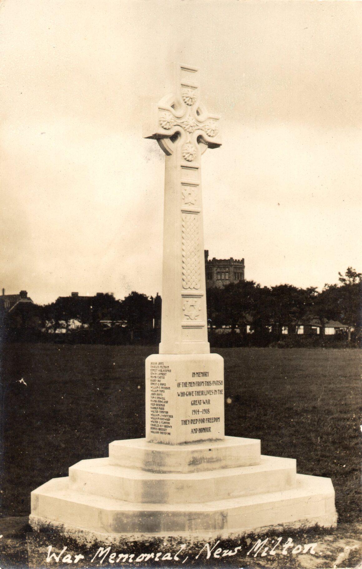 Centenary Anniversary of New Milton War Memorial